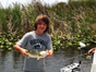 Calvin Adams Fishing in the everglades with Neal and Jake Stark